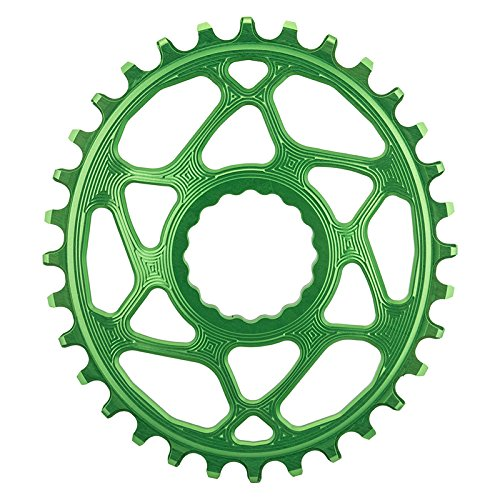 ABSOLUTE BLACK Race Face Oval Cinch Direct Mount Traction Chainring Green, 32t