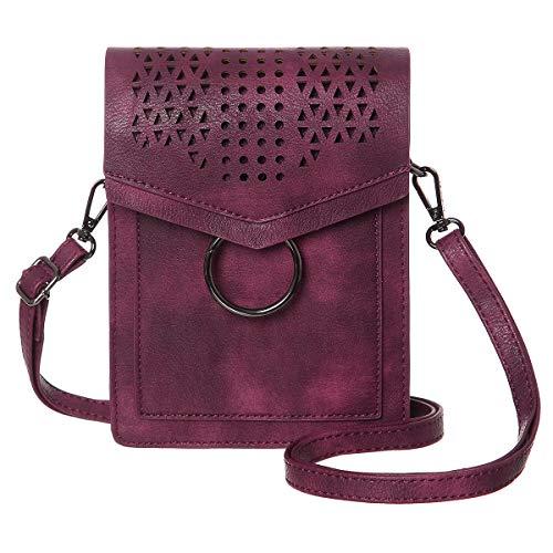 Donna Phone Borsa Minicat serie Vino Rosso Borsa Crossbody spesso tracolla più a Wallet Cell RwHqdBwW