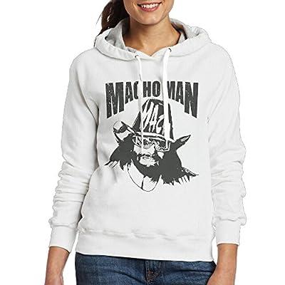 Macho Man Women's Hooded Sweatshirt White