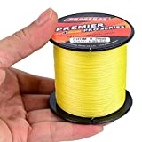 Cheap Baikalbass SuperPower Braided Fishing Line 4 Strands Strong Multifilament PE Braid Wire for Saltwater 328Yard/300M 60LB Yellow