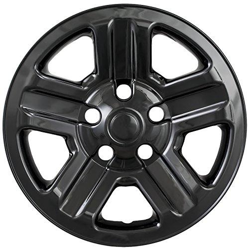 Amazon Com Gloss Black 16 Hub Cap Wheel Skins For Jeep Wrangler