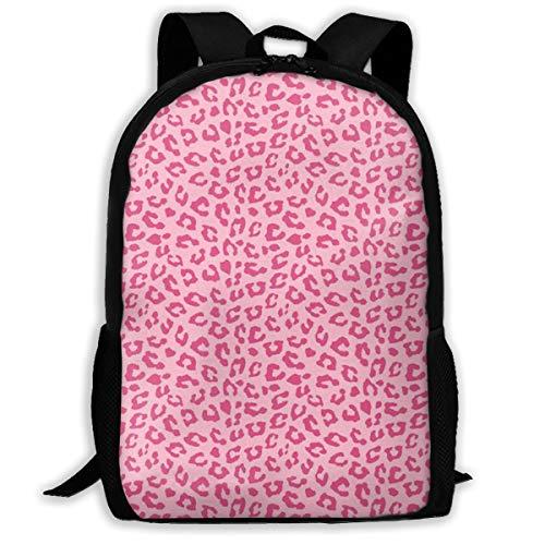 Pink Cheetah Leopard Print Custom Unique Casual Backpack School Bag Travel Daypack Gift ()