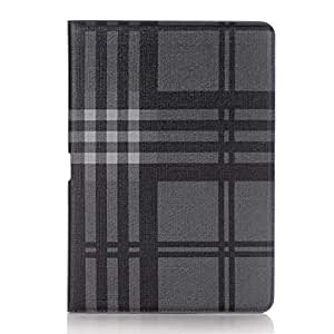 "10.5 inch Square Foldable Plaid Leather Case Stand Cards Smart Cover for Apple iPad Pro 10.5"" Tablet Auto Sleep Function-Black"