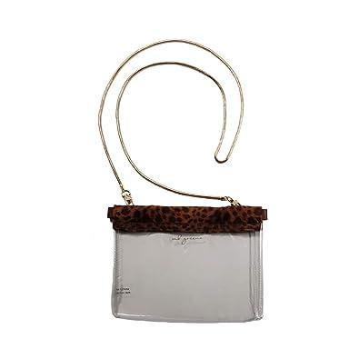 6c729b778a MB Greene Clear Stadium Approved Hinged Purse Leopard Cross Body Bag for  Sports  Handbags  Amazon.com