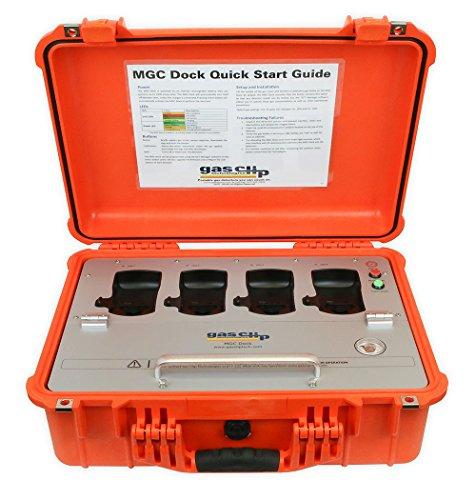 (Gas Clip Technologies MGC-Dock MGC Dock, Portable 4 Bay Docking Station for Multi Gas Clip Detectors)