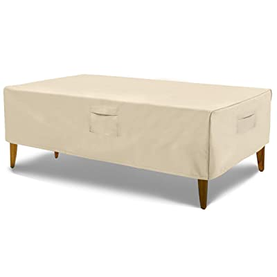 """HONEST OUTFITTERS Rectangular Patio Table Cover, Water Resistant and Heavy Duty Outdoor Lawn Patio Furniture Covers(Beige, 72"""" L x 44"""" W x 23"""" H) : Garden & Outdoor"""