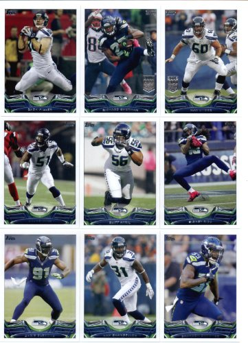 (2013 Topps NFL Football Team Set (SEALED) - Seattle Seahawks 19 Cards SUPER BOWL CHAMPIONS : Russell Wilson Richard Sherman Marshawn Lynch Zach Miller Bruce Irvin Seattle Seahawks Cliff Avril Sidney Rice Max Unger Brandon Browner Kam Chancellor Chris Clemons Robert Turbin Bobby Wagner Christine Michael Golden Tate Earl Thomas Chris Harper Percy Harvin)