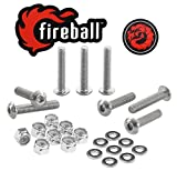 Fireball Dragon Stainless Steel Skateboard Hardware Set (Button Allen, 1.0'')