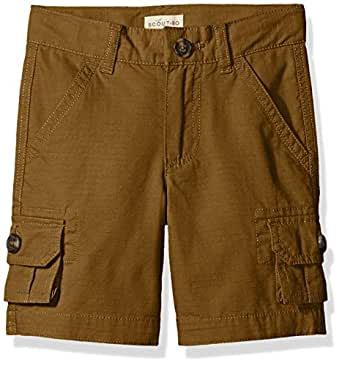 Scout + Ro Boys' Ripstop Cargo Short, Brown, 4