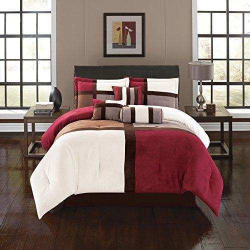 fantastic luxurious burgundy alejandra 7 piece burgundy alej