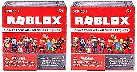 Amazoncom Roblox Series 1 Action Figure Mystery Box Set Of 2