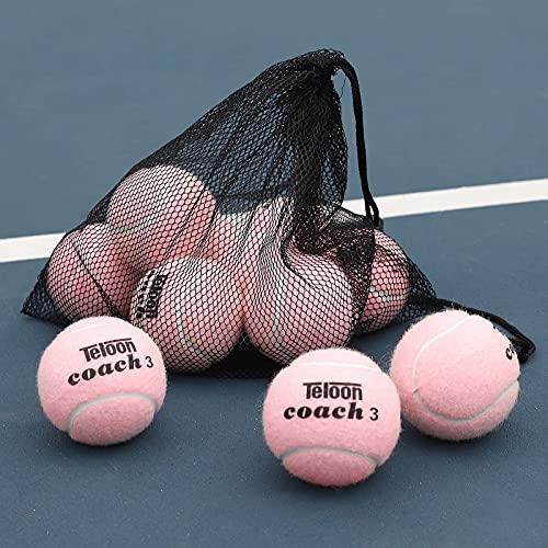 Pelotas de tenis de entrenamiento Teloon pack 12 rosa