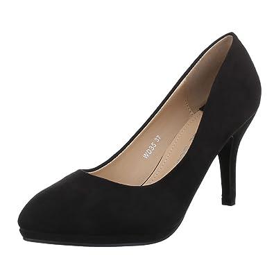 Ital-Design Damen Schuhe WD35 Pumps Klassische