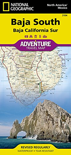 Map Baja Peninsula Mexico (Baja South: Baja California Sur [Mexico] (National Geographic Adventure Map))
