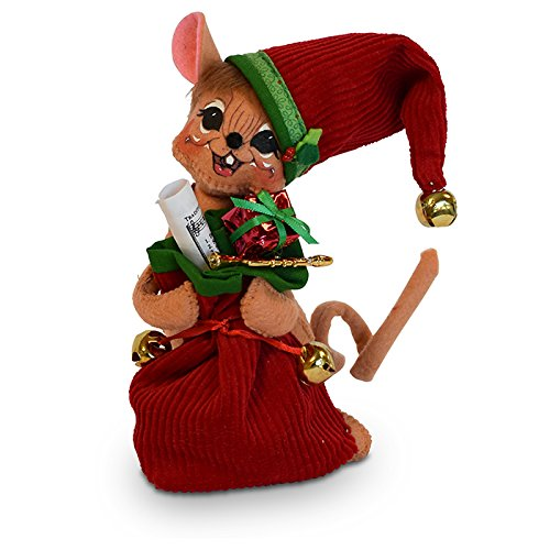 Annalee 6in Jinglebell Santa Mouse