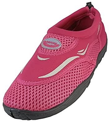 Womens Water Shoes Aqua Socks Pool Beach ,Yoga,Dance and Exercise (5, Fuchsia 1182L)