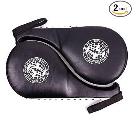 Taekwondo Martial Arts Equipment - Pack of 2 Taekwondo Kick Pads Target Karate boxing equipment Training