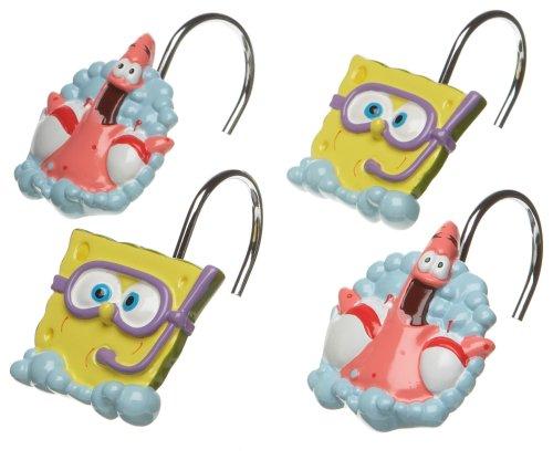 (SpongeBob Squarepants Shower Curtain Hooks)