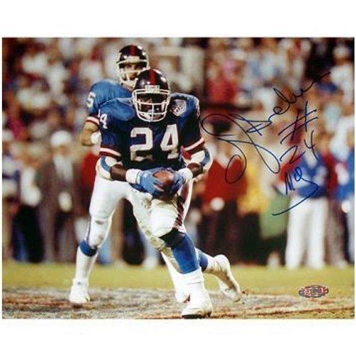 MLB New York Giants OJ Anderson Rushing Ball Giants Blue Jersey Horizontal Photograph, ()