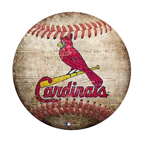 "Fan Creations MLB St. Louis Cardinals 12"" Baseball Shaped Sign"