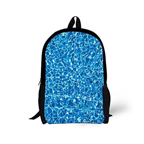 EASYANT Various Cool Blue Pattern Backpack Kids School Bag Children Book Packs