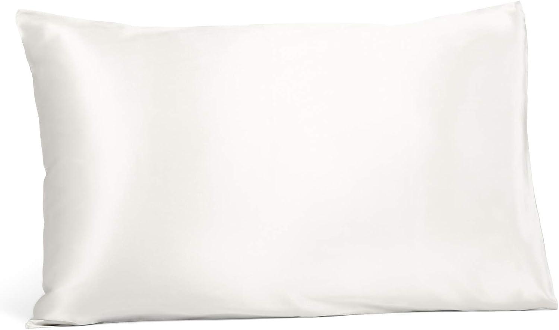 Fishers Finery 25mm 100% Pure Mulberry Silk Pillowcase, Good Housekeeping Winner (White, King)