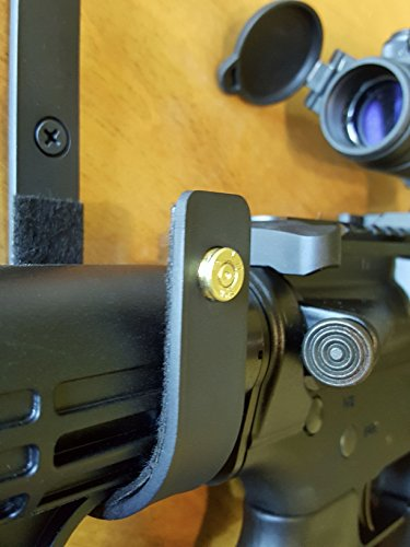 AR15 & M4 5.56 & .223 Caliber- Gun Rack Rifle Hangers Gun Hooks, Wall Mount Gun Safe Storage (5.56/.223 Brass Edition) Heavy Duty (1 Pair) VERDICT BRACKETS, Black Mounting Screws Included