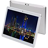 """tablets android 7.0 octa core 10"""" tablet pc 3G phone call 1280x800 dual sim wifi bluetooth gps camera 4gb ram 64 rom fire tablet for kids 8 9 google certified(silver)"""