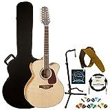 Takamine GJ72CE-12NAT Jumbo Cutaway 12-String Acoustic Electric Guitar
