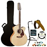 Takamine GJ72CE-12NAT Jumbo Cutaway 12-String Acoustic Electric Guitar