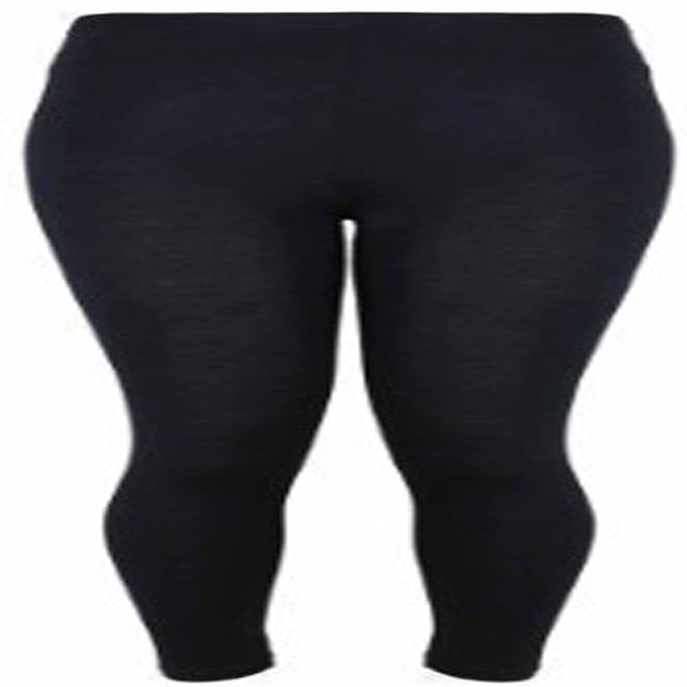 Ladies Black Warm and Cosy Brushed Thermal Leggings Size 10-16