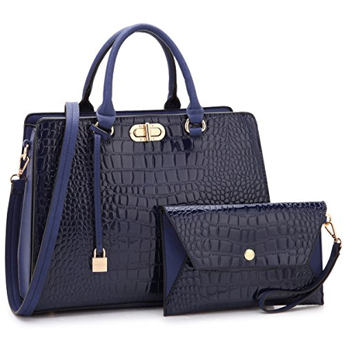 Holiday Womens Bag - MKP Collection Beautiful and Designer Shoulder handbag with Wristlet,Satchel/purse for woman.Holiday gift for woman. Four Season carry handbag(107581) Blue
