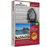 Brasilianisch-Komplettpaket: Lernstufen A1 bis C2. Fließend brasilianisches Portugiesisch lernen mit der Langzeitgedächtnis-Lernmethode. Sprachkurs-Software auf DVD für Windows/Linux/Mac OS X