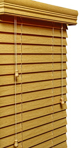 Lotus & Windoware 107 Inch Faux Wood Blinds, Treatments, Window coverings, 34 1/2 x 72 Natural