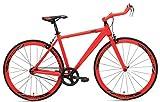 RapidCycle Evolve Fixed Gear Bike - Aluminum Bull horn (700CC, 53CM Frame, Orange Color)