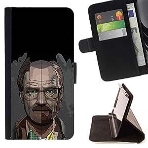 Momo Phone Case / Flip Funda de Cuero Case Cover - Meth Cocine;;;;;;;; - HTC One A9