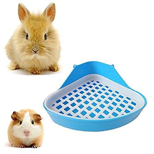 LZ 1Pcs Pet Toilet, Small Animal Toilet Bedding Box Pet Pan for Hamster Guinea Pig Corner Litter Tray Blue