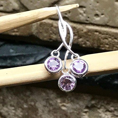 - Natural 1.5ct Rose de France Amethyst/Purple Amethyst 925 Solid Sterling Silver Journey Pendant 30mm
