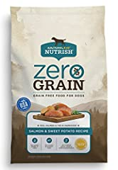 Rachael Ray Nutrish Zero Grain Salmon & Sweet Potato Recipe is made with simple, natural ingredients, like real salmon, which is always the number one ingredient, combined with wholesome vegetables and added vitamins & minerals. And t...