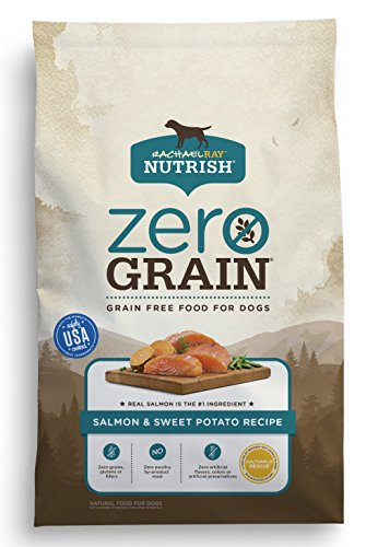 Rachael Ray Nutrish Zero Grain Natural Dry Dog Food, Salmon & Sweet Potato Recipe, Grain Free, 4 lbs