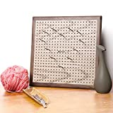 Yarn Mania - Premium Blocking Boards for Knitting with Grids - Handcrafted Wood Crochet Blocking Board with 484 Grid Holes and 20 Stainless Steel Pins