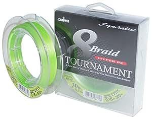 Daiwa Tournament 8 Braid - Hilo de pescar trenzado (0,18mm, 16,5kg, 300m)
