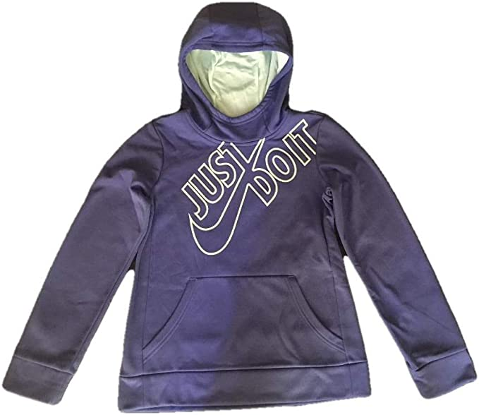 Nike Girls Just Do It Therma Pullover Training Hoodie Purple AV2913 596
