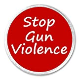 """A&T Designs Stop Gun Violence 3"""" Sew On Patch Killing"""