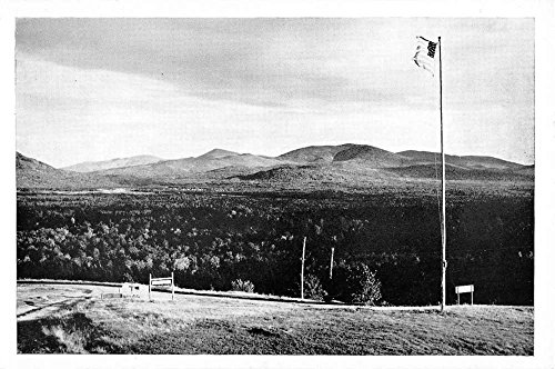Eustis Ridge Maine Sugarloaf Mountains Birdseye View Antique Postcard - Sugarloaf Store