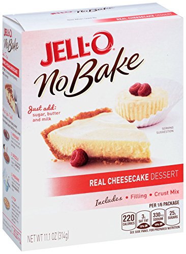 Jell-O No Bake Real Cheesecake Dessert, 11.1 Ounce (Pack of (Cheesecake Dessert)