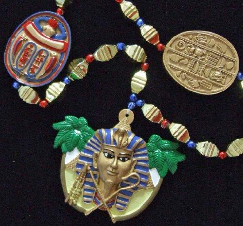 King Tut Mummy Egypt Egyptian Pyramid Halloween Mardi Gras Bead Necklace Spring Break Cajun Carnival Festival New Orleans Beads