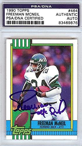 9003401cd38 Freeman McNeil Autographed 1990 Topps Card #464 New York Jets #83469876 -  PSA/