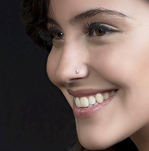 Nose Stud Lotus Stud Piercing Earring For Ear Lobe Handmade