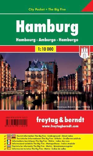 Hamburg City Pocket Map 1:10K FB (Germany) (English, Spanish, French, Italian and German Edition)